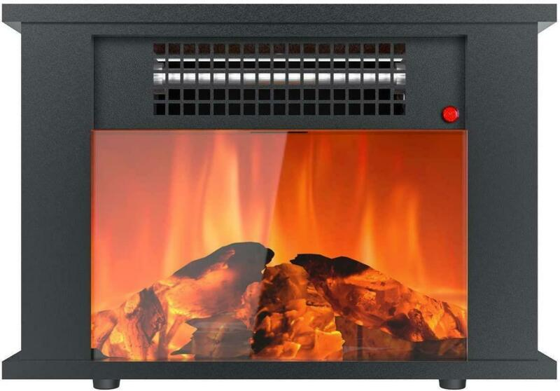 Quiet Freestanding Fireplace Stove Heater Overheating Protection Home Office