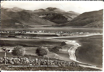 Scotland: The Braemore Hills and Loch Broom, Ullapool - B/W RP - Posted 1962