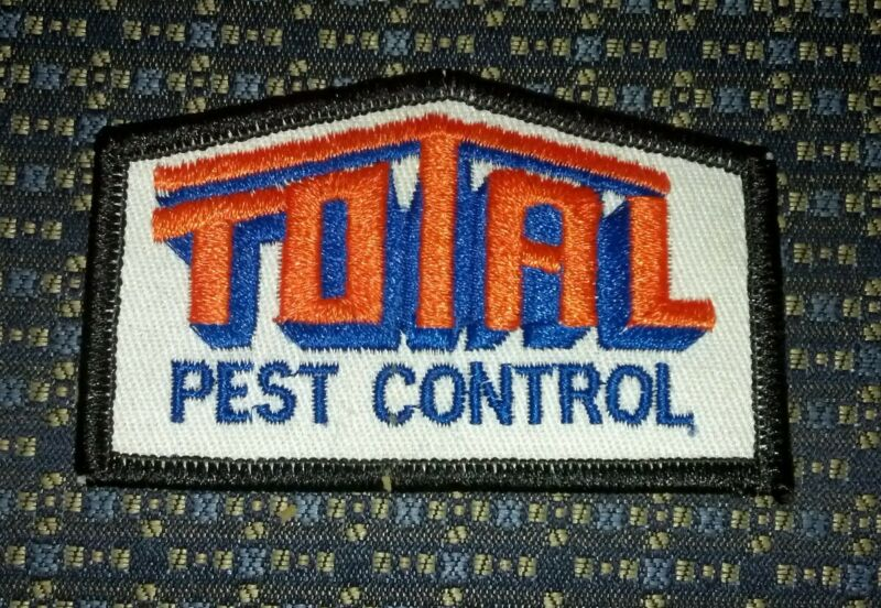 """TOTAL PEST CONTROL Iron or Sew-On Patch 3.25""""X2"""""""