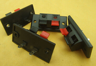 10pcs 2-wire Speaker Box Terminal Board Binding Post Push Spring Clip Connectors