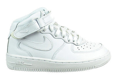 Nike Air Force 1 Mid (PS) Preschool Kids Shoes Leather Uptowns White 314196-113