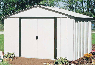 Shed - 10x12' Outdoor Storage Garden Shed Galvanized Corrosion Resistant Steel