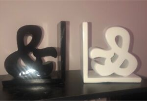 "Super cute bookends, black and white ""&"""