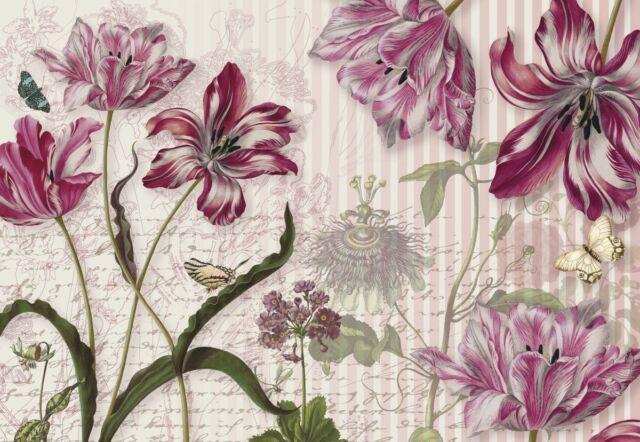 Merian floral flower photo wallpaper wall mural room decor 8 510 ebay giant paper wallpaper 368x254cm floral design wall mural for bedroom living room mightylinksfo
