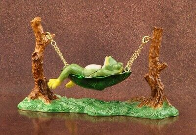 Frog on Tree LIMITED EDITION Trinket box hand made by keren Kopal & crystal