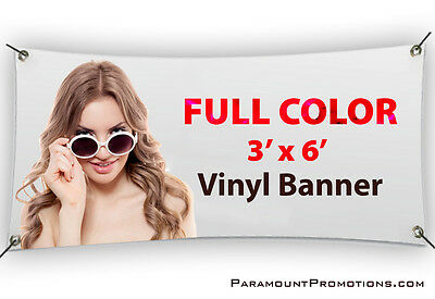 3x6 Printed Full Color Custom Vinyl Banner / Sign * Sale Price * - Printed Banners