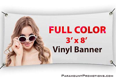 3x8 Printed Full Color Custom Vinyl Banner / Sign * Sale Price * - Printed Banners