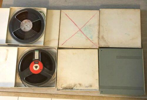 Lot of 7, Vintage Reel to Reel tapes, Basf, Unlabeled