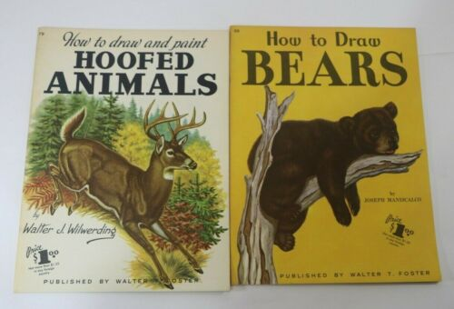 Vintage Painting & Drawing ART Books LOT of 2 Grumbacher Library & Foster Book