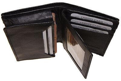 Mens Expandable Leather Credit Business Card Holder Front Pocket Gusset Wallet