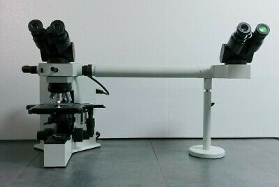 Olympus Microscope Bx40 With Side By Side Teaching Bridge