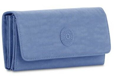 New Kipling Teddi Dream Blue Wallet Coin Credit Card Organizer