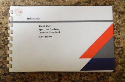 Tektronix 494 494p Spectrum Analyzer Operator Handbook