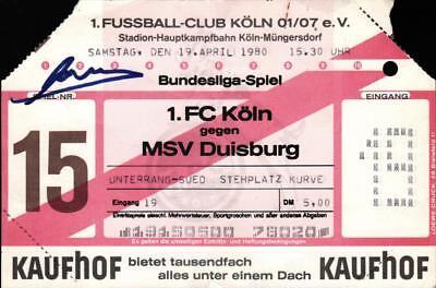 Ticket BL 79/80 1. FC Köln - MV Duisburg, 19.04.1980