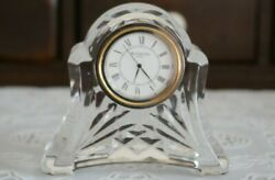 VINTAGE Waterford ABBEY Crystal Table / Desk Clock, Ireland