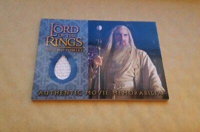 LOTR TTT COSTUME CARD - SARUMAN'S OVERTUNIC (2003) RARE - Saruman Costume