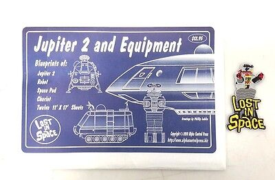 Lost in Space Blueprint Set of 12-Jupiter 2/ Equipment + Robot B-9 & Patch