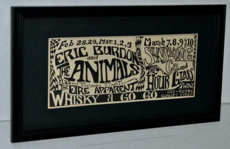 ALLMAN BROTHERS ULTRA RARE 1968 PRE-ALLMAN BAND HOURGLASS FRAMED CONCERT AD #1