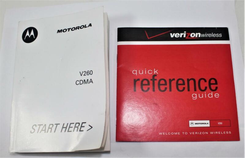 Motorola V260 Digital Wireless CDMA Telephone User