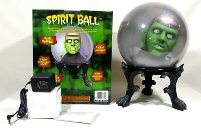 "Vtg Gemmy Green Monster Spirit Ball w/ Orig Box 9"" Works Perfectly"