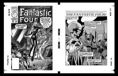 Paul Ryan Fantastic Four #387 Cover And Pg 1 Rare Large Production Art