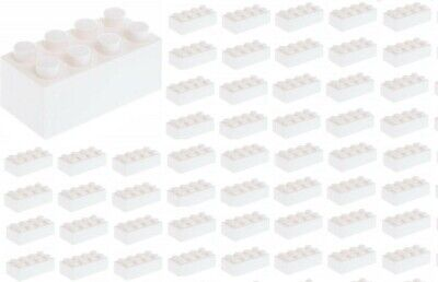 ☀️50x NEW LEGO 2x4 WHITE Bricks (ID 3001) BULK Parts star wars Snow Ice Building