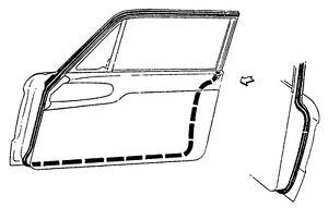 1964 ford falcon door seals