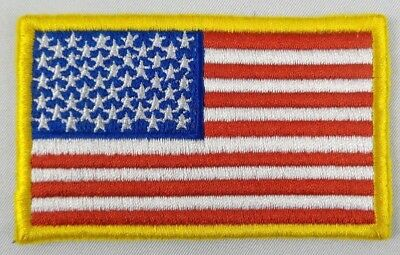 American Flag Patch USA Patch US United States Patch Embroidered Iron On Sew On (American Patch)