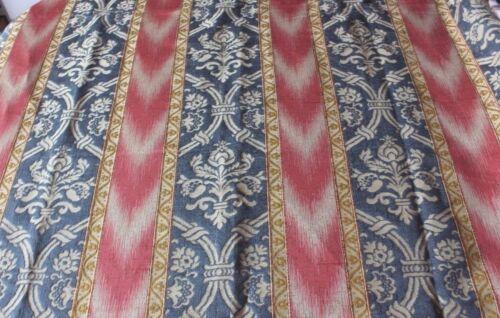 "French Antique Silk Jacquard Fabric Yardage~Renaissance Design~Ikat~155""X52"""