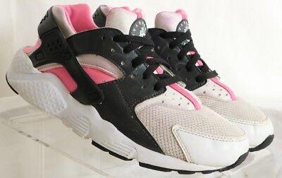 Nike Huarache White Athletic Running Sneaker Girls Youth US 5Y Women's US 7