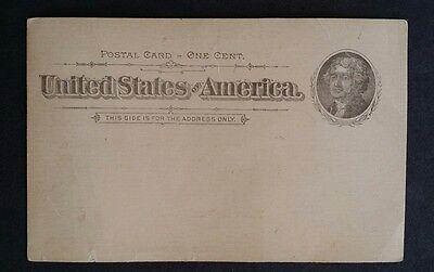 US POSTAL CARD JEFFERSON 1c 1 CENTUX12 VALENTINES VARNISHES UNUSED 1894 CREASES