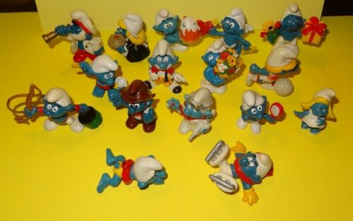 Smurf lot of 16 Smurfs Instant Collection Bundle Vintage Classic Display Figures