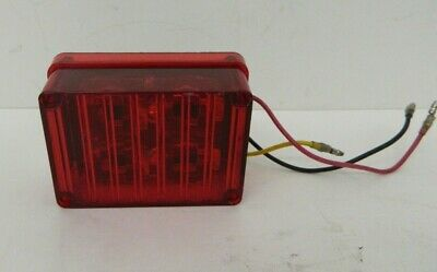 Tomar Electronics 4 Led Red Brake Light Rect-34clws-r