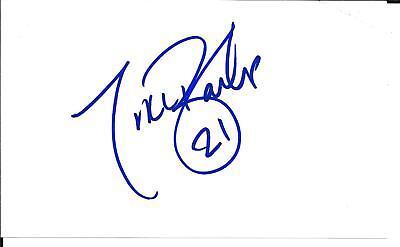 Tiki Barber Football NFL  SIGNED / Autographed photo  NY Giants Barber Autographed Nfl Football