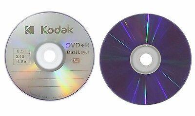 5 KODAK 8X Blank DVD+R DL Dual Double Layer Logo Branded 8.5 GB Media Disc