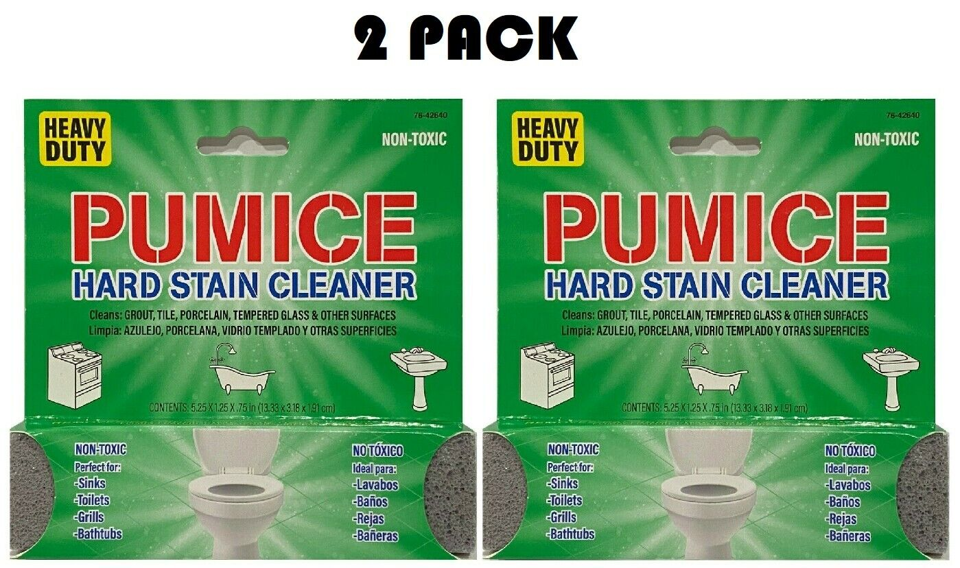 2 Pack Scouring Stick Pumice Heavy Duty Cleaning Stone Household Toilet