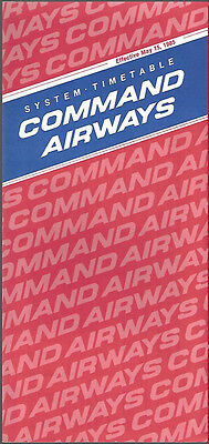Command Airways system timetable 5/15/85 [6114]