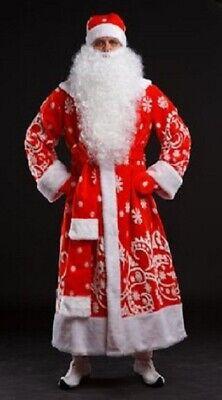 Blue Santa Suit (Christmas Suit Ded Moroz Santa Claus Color Red Blue Gift Bag Christmas)