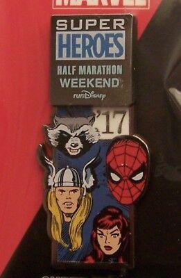 Disney Pin DLR 2017 Marvel Avengers Super Heroes 1/2 Marathon Weekend