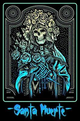 "4.75"" Santa Muerte vinyl sticker. Grim Reaper. Catholic Angel of Death decal.."