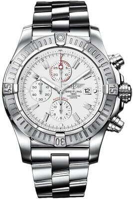PRE-OWNED BREITLING SUPER AVENGER WHITE DIAL STAINLESS STEEL WATCH A1337011/A660