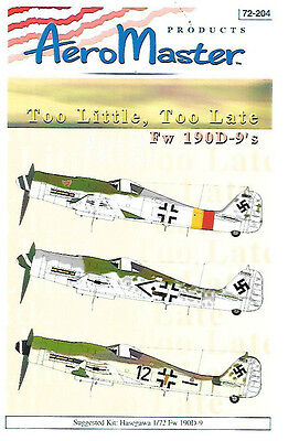 AeroMaster Fw 190D-9 Too Little Too Late Part 2 Hasegawa 1/72 Kit AN72204