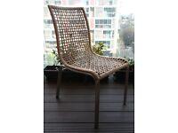 4x IKEA Nandor dining chair RRP £40 (sandy beige with grey aluminium legs, 88 x 46 x 62)