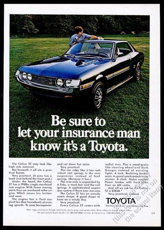 1973 Toyota Celica ST car color photo vintage print ad