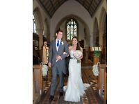 Perfect condition lace fishtail wedding dress