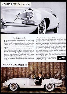1962 Jaguar XKE XK-E roadster convertible car color photo vintage print ad 3