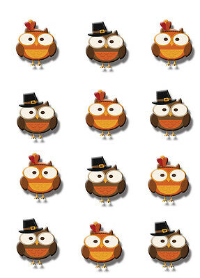 Edible Cake Tops Cupcake cookie Halloween Thanksgiving Fall Assortment of Styles](Halloween Cup Cake)