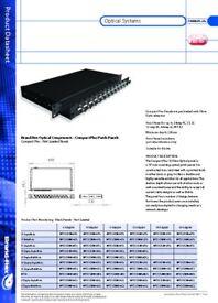 *JOB LOT* 3X Brand Rex 24 Port Compact+ Rack Fibre Patch Panel - MFCC1SXMM16ST2/ free shipping
