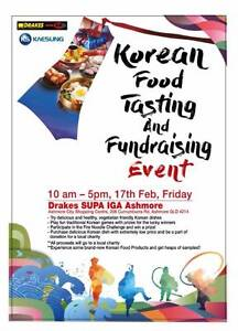 [Gold Coast] The Korean Food Tasting and Fundraising Event Ashmore Gold Coast City Preview