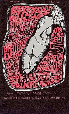 MINT Grateful Dead Jefferson Airplane 1966 BG 26 Fillmore Card